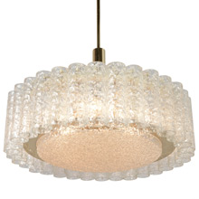 Stunning Contemporary Ice Drum Chandelier, c1973