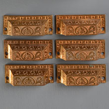Set of 6 Bronze Neo-Grec Bin Pulls, c1878