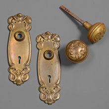 "Sargent ""Alby"" Design Art Nouveau Door Set, c1905"