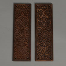 "Pair of Yale & Towne ""Florian"" Push Plates, c1900"