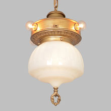 Classical Commercial Pendant w/Accent Lamps, c1922