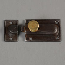 Early Plain Victorian Cast Iron Cabinet Latch, c1865