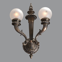 Pair No. 2: Massive Bradley & Hubbard Bronze Sconces, c1910