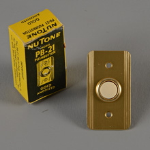 NuTone NOS PB-21 Unlighted Doorbell Button, c1965