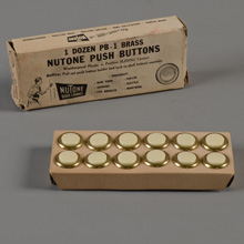 One Dozen NuTone NOS Unlighted Doorbell Buttons
