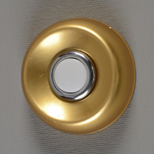 NuTone NOS Round PB-14 Unlighted Doorbell Button, c1965