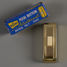 NuTone NOS Aristocrat PB-7 Doorbell Button, c1952