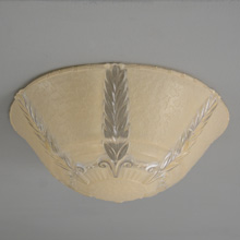 Tan-tinted Pressed Glass Bead-Chain Shade, c1938