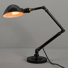 "Classic ""Ajusco"" Articulated Industrial Desk Lamp, c1925"