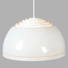Classic White NOS Lightolier Louvered Dome, c1965