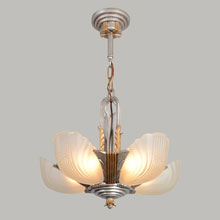 Markel 3000 Line 5-Light Slip Shade Chandelier, c1933