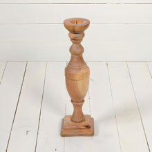 "15"" Stripped Mahogany Turned Baluster, c1900"