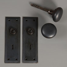 Bower-Barff Beveled Cast Iron Door Set, c1905