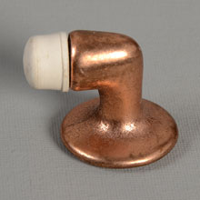 NOS Dull Bronze Plated Floor Door Stop, c1950