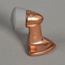 NOS Dull Bronze Plated Diecast Floor Door Stop, c1955