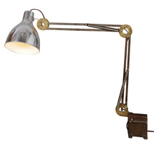 Industrial Articulated Work Light w/Brass Joints, c1955