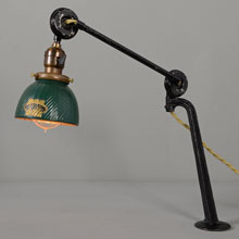Rare Van Dyke Articulated Lamp w/X-Ray Shade, c1930