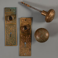 Norwalk Cast Bronze Aesthetic Passage Set, c1885