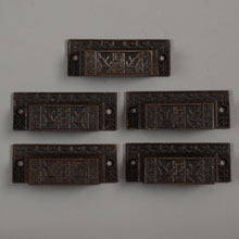"Set of 5 Aesthetic ""Windsor"" Bin Pulls by Reading, c1885"