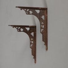 "Pair of 6"" Aesthetic Cast Iron Shelf Brackets, c1885"
