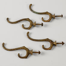 Set of 4 Fancy Hall Hooks, c1880