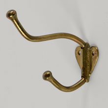 "Brass-Plated Steel ""Heart"" Hook, c1910"
