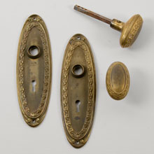 Oval Door Set With Acanthus, c1900