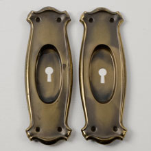 Pair of Arts And Crafts Pocket Door Pulls, c1900