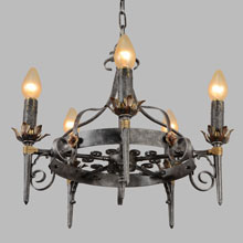 Wrought Romance Revival Chandelier, c1925