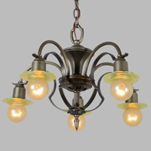 Lightolier Marquis Series 5-Arm Chandelier, c1926