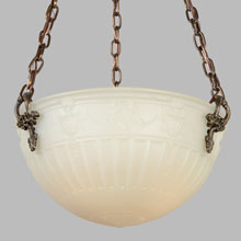 "Elegant 16"" Semi-Indirect Camphor Bowl Fixture, c1913"