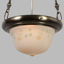 Colonial Revival Drop-In Floral Bowl Fixture, c1923