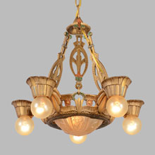 Sears Hi-Glo Art Deco Chandelier, c1934