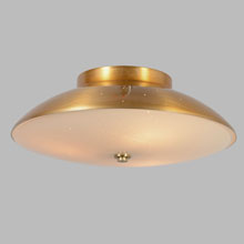Lightolier Ceiling-Mounted Saucer Fixture, c1959