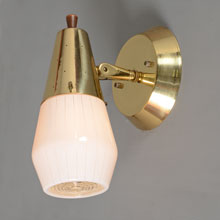 Pair of MCM Pivoting Pinstripe Sconces by Progress, c1960