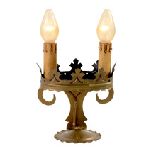 Pair of Courtly Mantel Lights