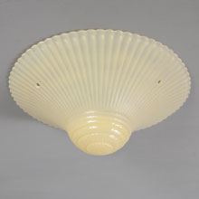 Pressed Glass Bead-Chain Shade, c1940
