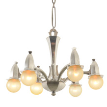 Century of Progress 6-Light Drop Chandelier C1934