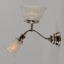 Early Converted Gas/Electric Sconce, C1905