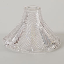 Crosshatch Chevron Prism Hood Shade R2278, c1900