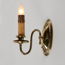 "Pair Of Colonial Revival ""Ribbon & Reed"" Wall Sconces, C1920"