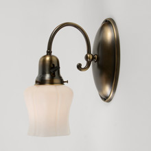 Set of 2 Colonial Revival Wall Sconces with Tulip Shades, c1920