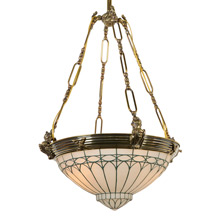 Classical Revival Bowl Chandelier, c1920
