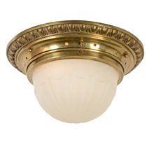 Classical Egg and Dart Flush Mount Fixture, C1910