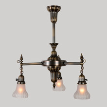 3-Light Sheffield Chandelier, c1910
