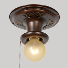Ivy Pull-Chain Beam Light, c1925