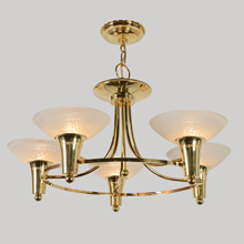 Almost-Mid-Century Chandelier, c1945