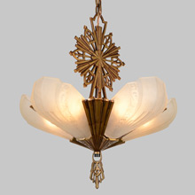 "5-Light Virden ""Rayburn"" Chandelier, c1933"