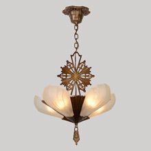 "5-Light Virden ""Rayburn"" Iron Chandelier, c1933"