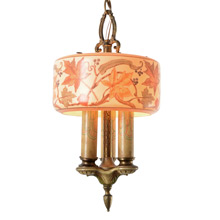 Lovely 3-Light Chandelier by Lightolier C1928